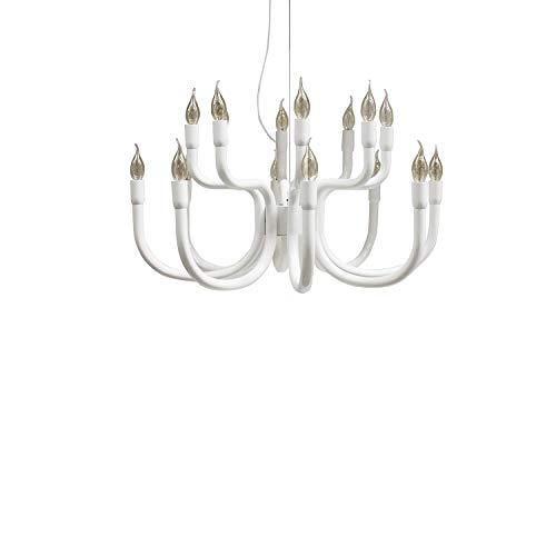 Karman Snoob lampadario con 16 sorgenti luminose bianco