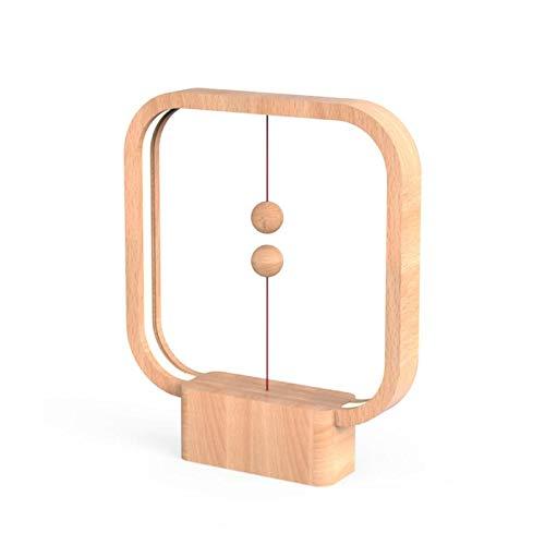 Allocacoc Heng Balance Lampe carrée en bois clair