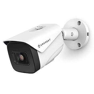 Amcrest 4K AI POE Camera 30fps UltraHD 8MP Bullet POE IP Camera, Security Outdoor Camera, 98ftNight Vision, 2.8mm Lens (108°), IP67 Weatherproof, 4K (3840x2160) @30fps, White (IP8M-2696EW-AI)
