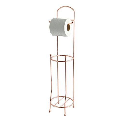 MSV WC Rollenhalter Toilettenpapierrollenhalter WC Rollen Aufbewahrung WC-Ersatzpapierrollenhalter Klopapierrollenhalter Kupfer