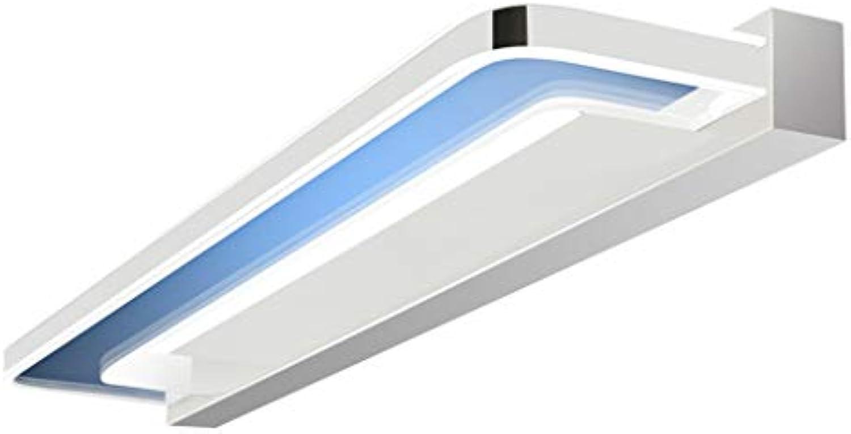 LYP-Wandlampe Badezimmerspiegel Frontscheinwerfer Spiegel Scheinwerfer Wasserdicht Anti-Fog Kosmetikspiegel Schrank Beleuchtung Aluminium + Silikon - Nein mit Schalter (Farbe  Wei) Bad