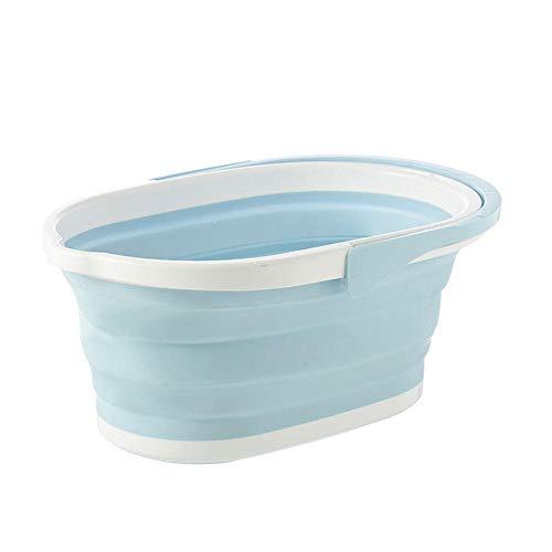 QMTKY Cesto de Ropa Plegable Portable Wash Dishes Vegetable Basin Contenedor de Almacenamiento Plegable Viaje Lavabo-Azul 46 * 30 * 20 cm