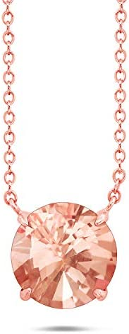 Nicole Miller Fine Jewelry Sterling Silver with 14K Rose Gold Overlay 8mm Round Cut Simulated product image