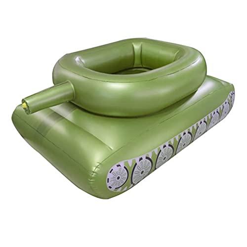HWGING Aufblasbarer Pool Spielzeug,Aufblasbarer Tank mit Wasserwerfer,Aufblasbarer Tank-Schwimmring mit Spritzpistole, tragbarer Luftmatratze Wasser Schwimmstuhl aufblasbare