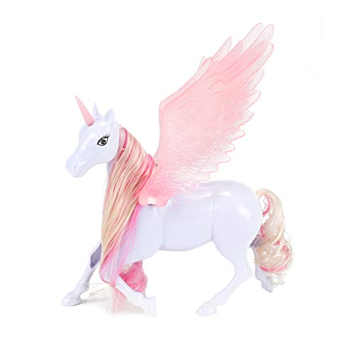 Toi-Toys Unicornio con alas, figura de unicornio con crin larga, caballo de fantasía, unicornio de cuentos de hadas