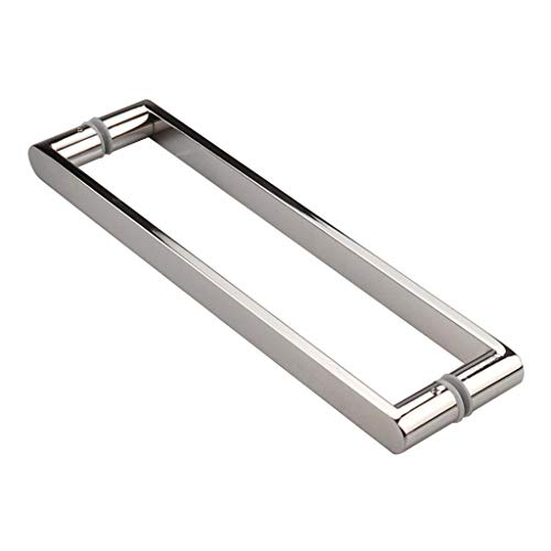 RTY-BY Shower Door Handles for Both Sides of The Glass Door Internal Shower Door Pull Knob Bar Replacement Parts for Bath/Bathroom, Polished Chrome (Size : 400mm Hole to Hole)