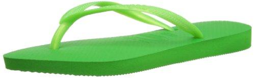 Havaianas Slim, Chanclas Mujer, Verde (Neon Green 5211), 39/40 EU