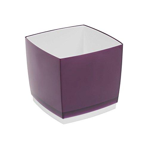 Pot de fleur, cache pot Designo Cube, hauteur 15,5 cm, en prune, violet