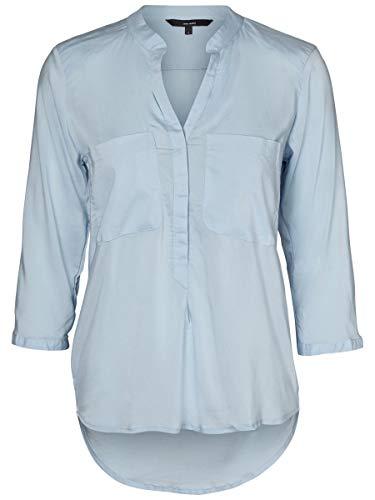 Vero Moda Vmerika Plain 3/4 Shirt Noos, Blusa para Mujer, Azul (Cashmere Blue Cashmere Blue), 34 (Talla del...