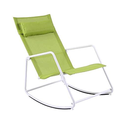 CHENXU Sillón Mecedora Relax Mecedora - Balcón Silla de la Sala de Estar de la Siesta Silla, sillón de la Sala Balcón Mecedora, 54x81x86cm