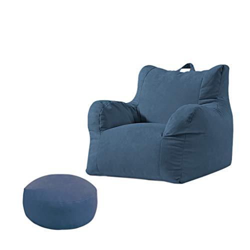 SD Grande Fauteuil/Confortable Bean Bag Chaise/Sac de Haricots/Enfants et Adultes/avec Repose-Pied/2 Tailles au Choix/Convient pour intérieur et extérieu