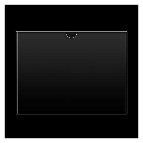 JKGHK Soporte De Acrílico De Acrílico De Soporte De Exhibición De Acrílico Tipo De Pared Doble Horizontal, Adecuado para El Certificado De Pantalla De Pared,297mm x 420mm