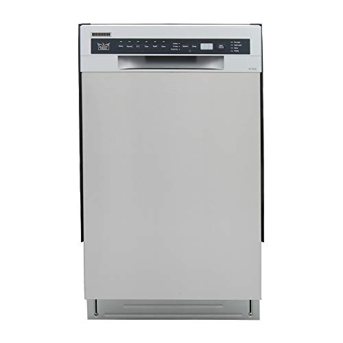 """Kucht K7740D Professional 18"""" Front Control Dishwasher, Stainless Steel"""