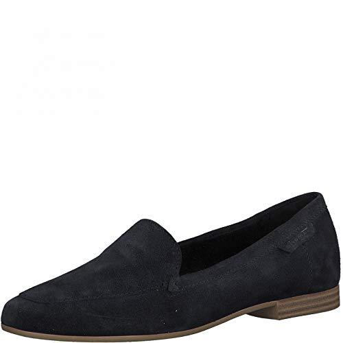 Tamaris Damen Slipper, Frauen Mokassins,Touch It-Fußbett,Women's,Halbschuhe,College,Schuhe,Loafer,Businessschuhe,Schlupfschuhe,Navy,38 EU / 5 UK