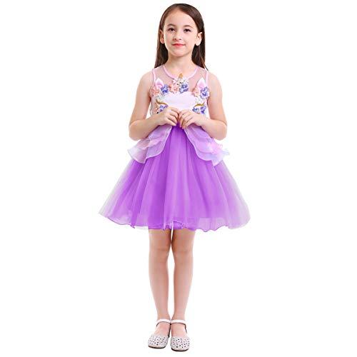 OBEEII Unicornio Traje de Navidad Fiesta Halloween Carnaval Ceremonia Aniversario Regalo Bebé Niñas Vestido Princesa 18 Meses - 14 Años
