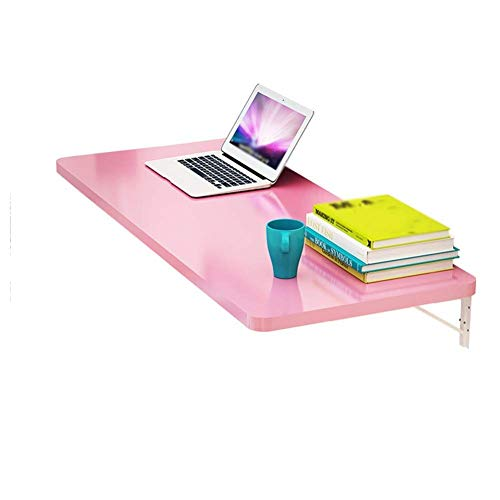 Wand-laptop-standaard bureau opvouwbare muur schrijftafel boekenplank salontafel houten paneel multicolor optioneel 15 maten wit 60x40cm 60 x 30 cm, roze