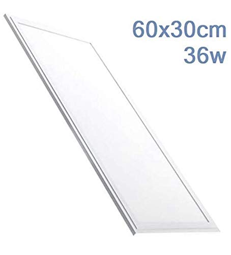 Panel LED 60x30 cm, 36W. Color Blanco Frio (6500K). 2800