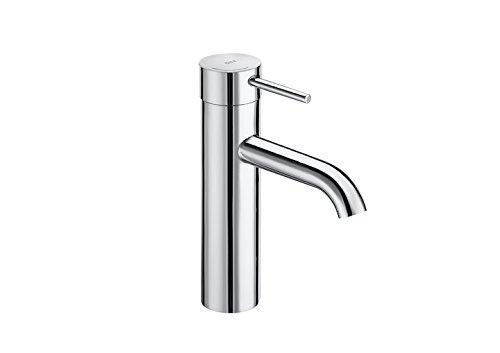 Roca Lanta - grifo monomando para lavabo con caño mezzo, cuerpo liso,...