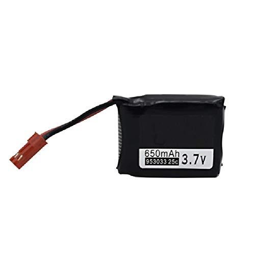 RFGTYH Batería Lipo de 3.7V 650MAh para TOZO Q1012 Q9 batería para X8TW X8T RC Quadcopter Drone Repuestos 953033 3.7v 25c batería White
