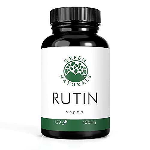 Rutin (120 Kapseln á 450mg) - deutsche Herstellung – 100% Vegan & Ohne Zusätze - Vorrat für 4 Monate. Bonus Venen Ratgeber (eBook)
