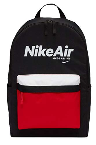 NIKE Nk Heritage Bkpk - 2.0 Nkair Sports Backpack, Unisex adulto, Black/University Red/(White), MISC