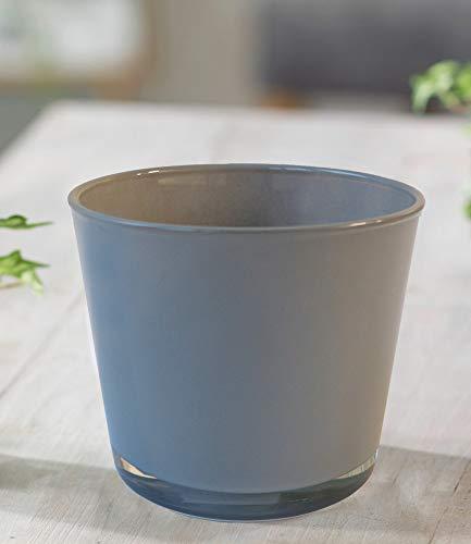 BALDUR-Garten GmbH Glas-Übertopf ø 14 cm grau,1 Stück