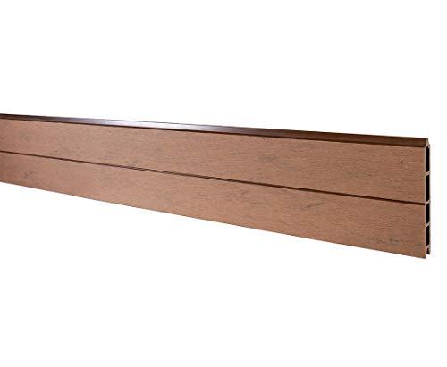 bambus-discount.com Einzelprofil WPC Zaun, Mandel mit 15x2,1x178 - Sichtschutz, Sichtschutz Elemente, Sichtschutzwand, Windschutz, Sichtschutzzäune