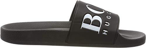 Hugo Boss calzado Solar_Slid negro Slider, Negro (Negro), 40 EU