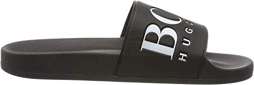 BOSS Herren Solar_Slid_Logo Pantoletten, Schwarz (Black 002), 41 EU