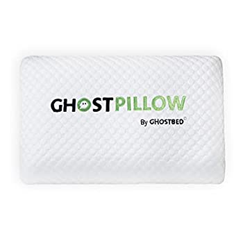 GhostBed Memory Foam Pillow - Cooling & Contouring Gel Memory Foam with Ergonomic Design & Patented Cooling Layer 1 Pack