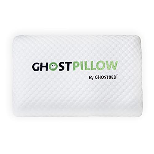 GhostBed Memory Foam Pillow - Cooling & Contouring Gel Memory Foam with Ergonomic Design & Patented...