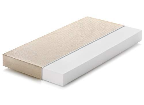 Marcapiuma - Colchón para cuna 70x140 alto 10 cm - BAMBY - colchón para bebé de WaterFoam Transpirable - Recubrimiento desenfundable Antialérgico Antiácaros Antibacteriano - 100% Fabricado en Italia