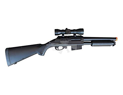 Mossberg Double Eagle M47A1 M47 UTGA Full Size Quality Heavyweight Tactical Airsoft Spring Powered Pump Action Shotgun Rifle Powerful