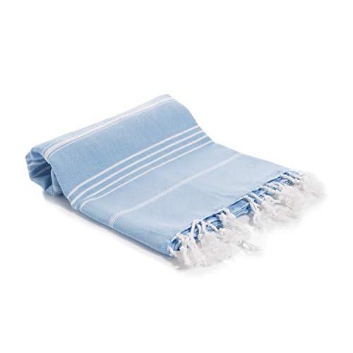 Decorous asciugamano da spiaggia, asciugamano da sauna – ad asciugatura rapida, assorbente, XXL, asciugamano da bagno sportivo da viaggio, 100% cotone Oeko-Tex 180 x 100 cm