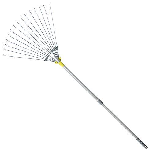 Jardineer 160cm Telescopic Garden Leaf Rake