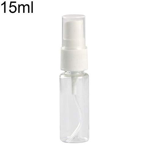 Lsgepavilion Bouteille Vide en Plastique Transparent Portable Voyage Cosmétique Parfum Liquide Atomiseur Conteneur 15ml