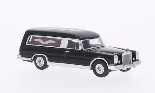 Mercedes 600 (W100) Pollmann, schwarz, 1969, Modellauto, Fertigmodell, BoS-Models 1:87