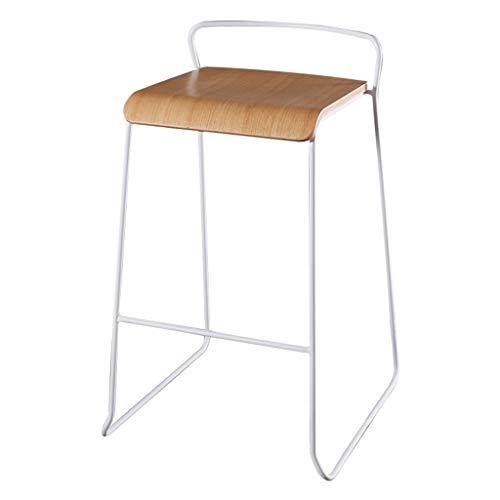 Réglage en hauteur- ☀ JBD Iron Art Chaise de bar moderne Nordic Creative Design Tabouret surélevé Café Comptoir Casual Restaurants Seat (Couleur : Blanc, taille : 75cm Seat height)