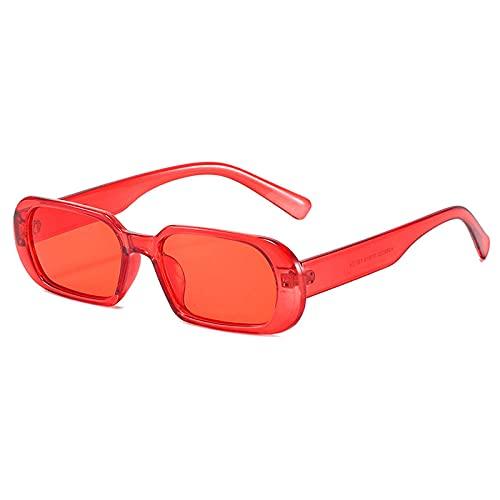 DLSM Rectángulo de Lentes Coloridas Gafas de Sol Mujeres Personalidad Vintage Gafas de Sol Vintage Ladies Fashion Gafas Steampunk Eyewear-C7