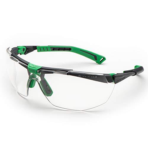 Univet 5X1.03.00.00 Bügelbrille 5X1 mit klarem Glas in metallgrau/grün