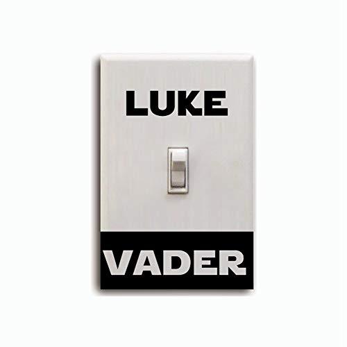 etiqueta de la pared Película clásica Star Wars Interruptor de luz pegatina Darth Vader Luke Skywalker Decoración del hogar para niños Dormitorio Sala de juegos
