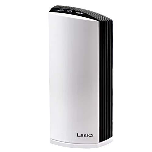 "Lasko LP300 HEPA Tower Air Purifier with Timer, 21.6' x 7.3"" x 10.3"", White"
