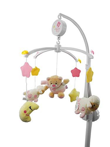 Bieco Musik-Mobile Baby Bär Petrilla   Spieluhr Baby Mobile   Babymobile für Bett   Beobachten, Lauschen & Staunen   Guten Abend, Gute Nacht   Ab 0 Monaten 0 Jahren   Kinderbett Mobile Baby Musik