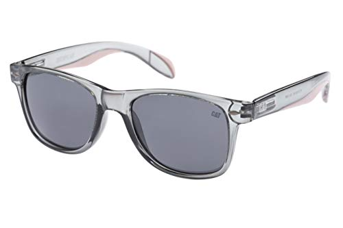 Caterpillar Unisex-Adult Purlin Sunglasses, Gloss Grey Crystal, 53 mm