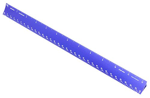 Alumicolor Aluminum Architect Hollow Scale for School, Office, Art and Drafting, Blue