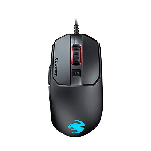 Roccat Kain 120 AIMO RGB Gaming Maus (16.000 Dpi Owl-Eye Sensor, 89G leicht, Titan Click Technologie), schwarz
