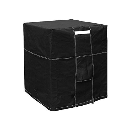 LBG Products Outside Square Black Air Conditioner Cover for Central AC Condenser Units