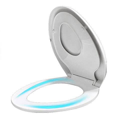 ANXI familie wc-bril met ingebouwde kinderstoel/soft-close met soft-close-verstelbaar scharnier Top Mounted ultra-resistente toiletdeksel met montagekits