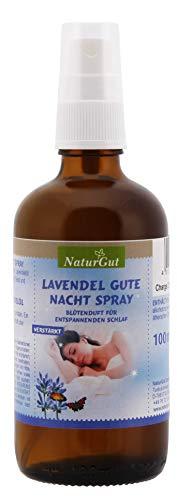 NaturGut Lavendel Gute Nacht Spray verstärkt reines Lavendelöl 100ml Lavendel-Schlafspray Duftspray Raumspray Lavendelspray