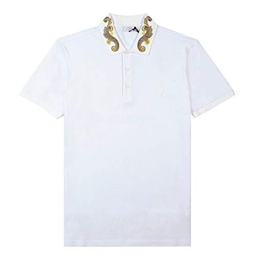 Versace colección Estampado Collar Polo Blanco White Large
